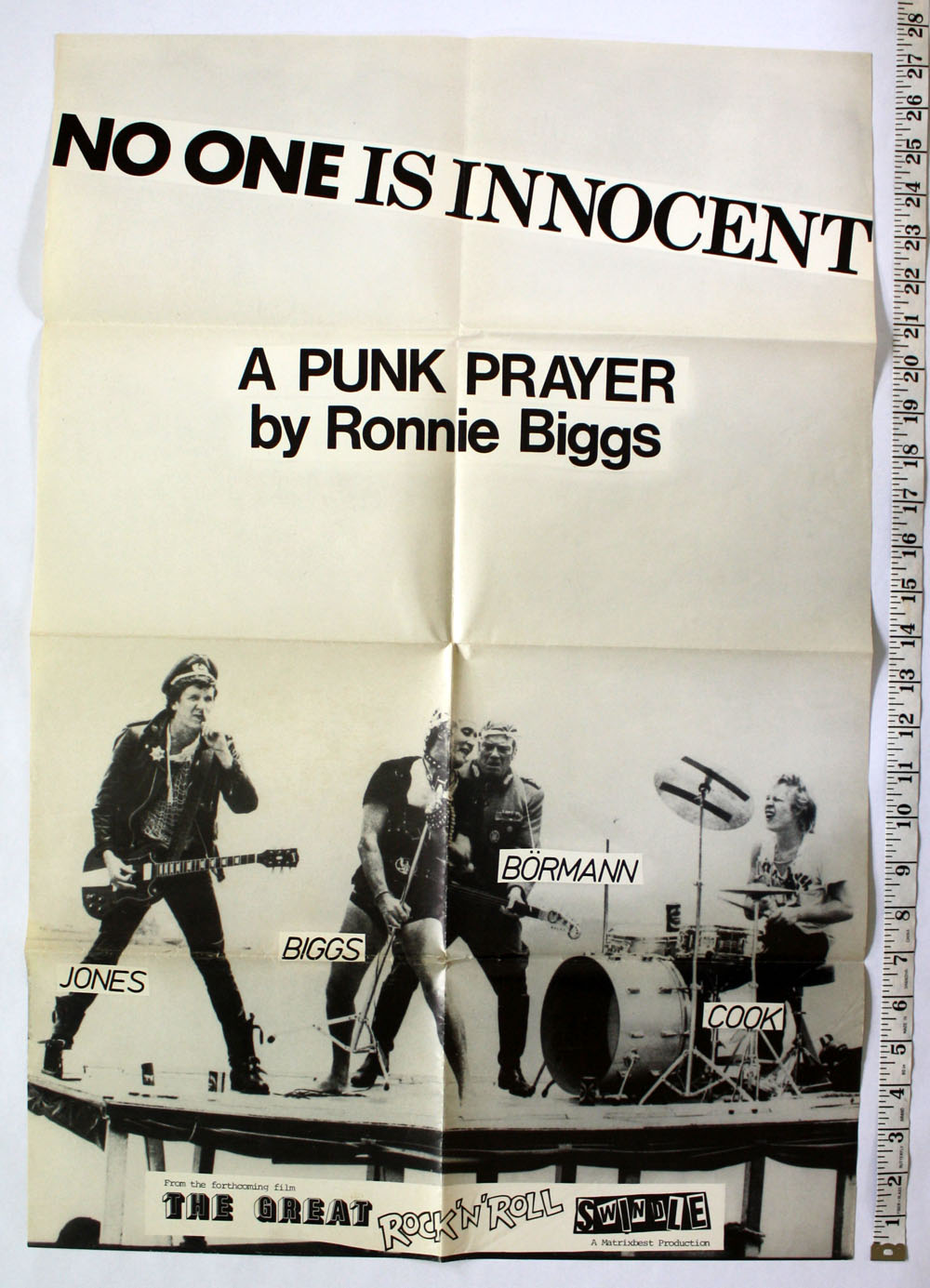"SEX PISTOLS ~ ""No One Is Innocent"" POSTER"