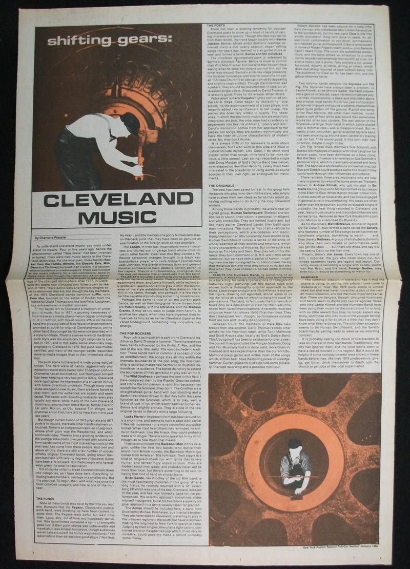 CLEVELAND MUSIC article