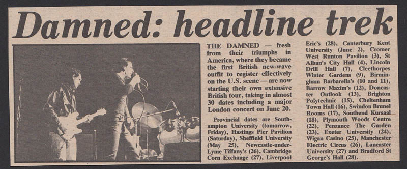 DAMNED tour