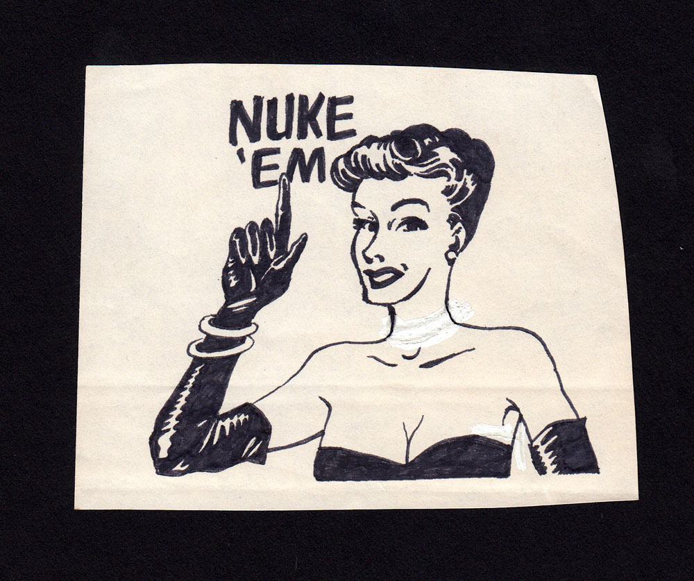 PUNK MAGAZINE original art: Nuke 'Em