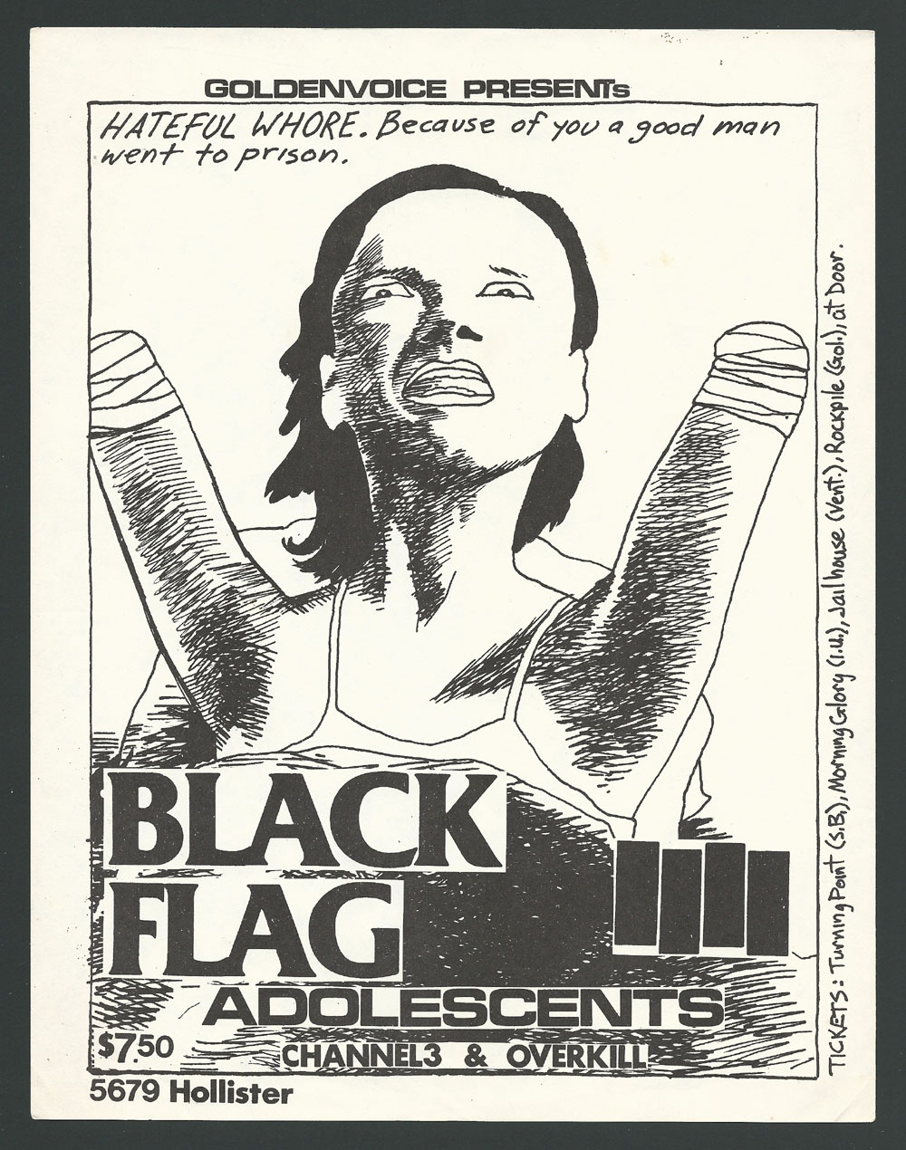 1982 ~ BLACK FLAG at 5679 Hollister (Goleta)