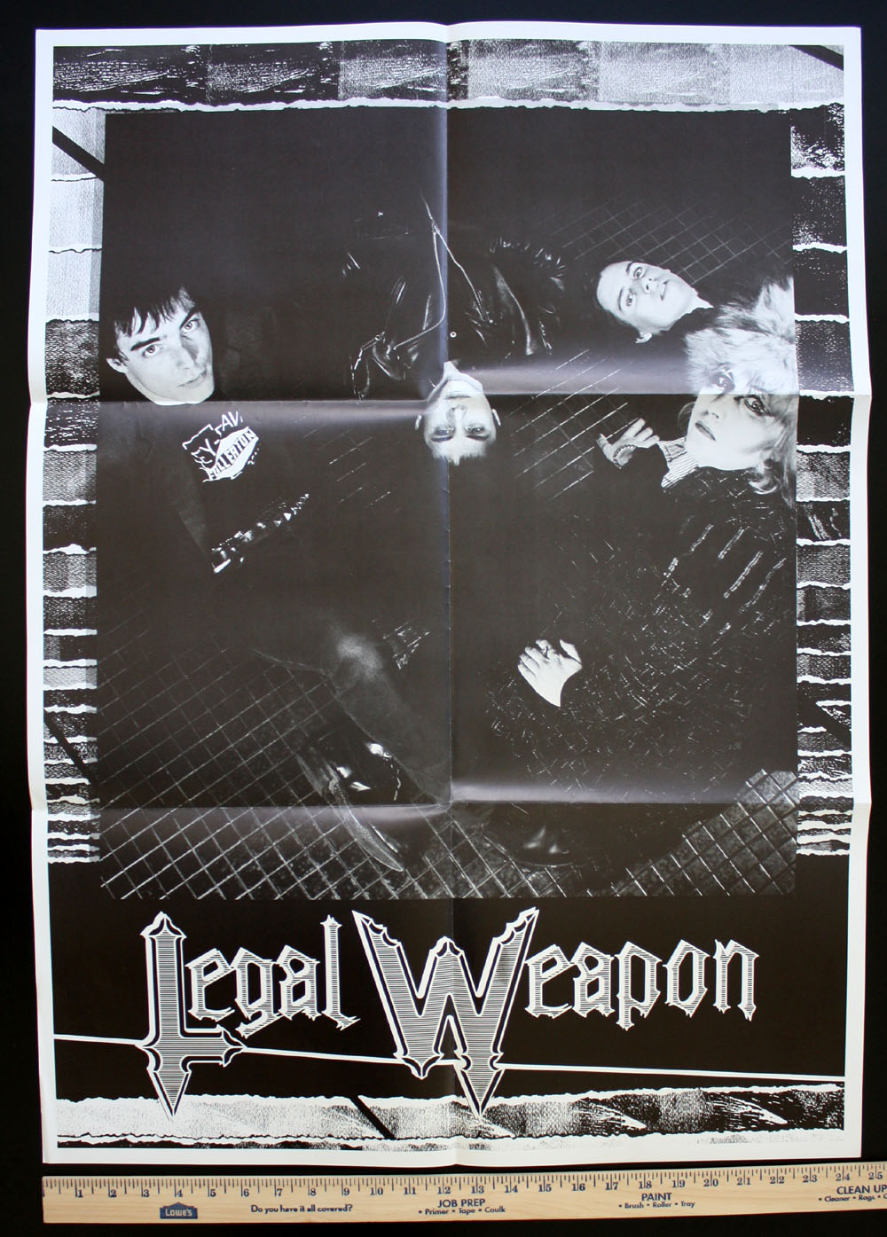 LEGAL WEAPON ~ Your Weapon LP promo POSTER