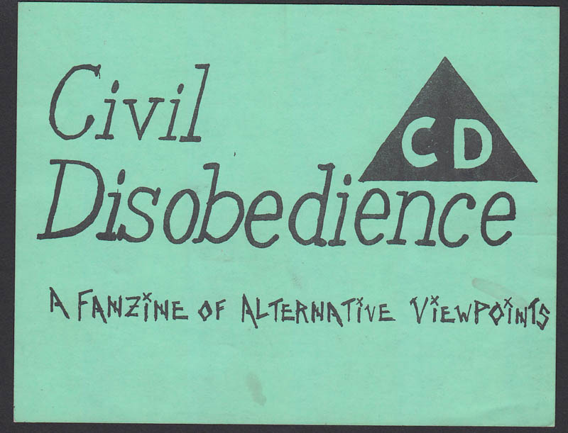 CIVIL DISOBEDIENCE FANZINE sticker
