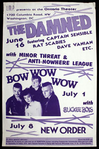DAMNED w/ Minor Threat, Anti-Nowhere League at Ontario Theater