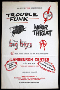 MINOR THREAT w/ Big Boys, Trouble Funk at Lansburgh Center