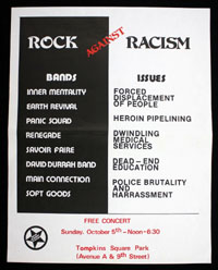 ROCK AGAINST RACISM at Tompkins Square Park