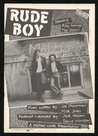 CLASH Rude Boy official booklet