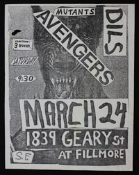 AVENGERS w/ Mutants, Dils at 1839 Geary