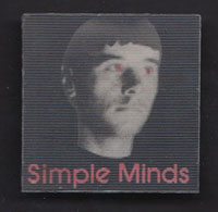 SIMPLE MINDS badge