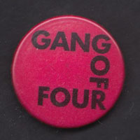GANG OF FOUR badge