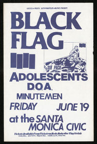 1981 ~ BLACK FLAG at Santa Monica Civic