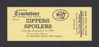 ZIPPERS w/ Spoilers at Troubadour 11.17.79