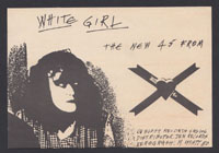 X ~ White Girl promo postcard