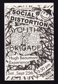 SOCIAL DISTORTION w/ Youth Brigade, Hugh Beaumont Experience at Studio D