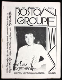 BOSTON GROUPIE NEWS #25