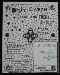 BILLY SYNTH Here & There promo flier