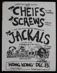 CHEIFS w/ Screws, Jackals at Hong Kong Cafe