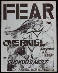 FEAR w/ Overkill at Cuckoo's Nest