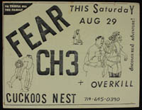 FEAR w/ Channel 3, Overkill at Cuckoo's Nest