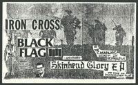 BLACK FLAG w/ Iron Cross at The Casablanca