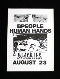 B-PEOPLE w/ Human Hands at Blackies