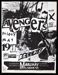 AVENGERS w/ X, Breeder at Mabuhay Gardens