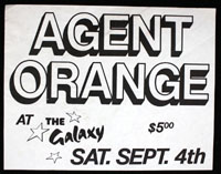 AGENT ORANGE at Galaxy