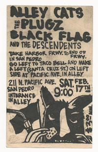 BLACK FLAG w/ Alley Cats, Plugz, Descendents in San Pedro