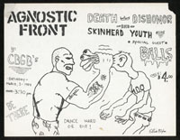 AGNOSTIC FRONT w/ Death Before Dishonor, Skinhead Youth, Balls at CBGB