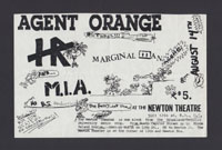 AGENT ORANGE w/ HR, Marginal Man, MIA at Newton Theatre