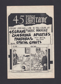 45 GRAVE w/ Cambridge Apostles, Pandoras at Music Machine