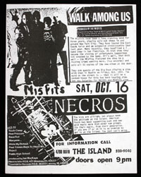 MISFITS w/ Necros at The Island