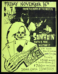 SAMHAIN w/ State of Confusion, LDS at the Indian Center