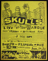 SKULLS w/ Arthur J. & The Goldcups at the Masque