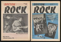 BOSTON ROCK lot of 10 early issues 1980 - 1982