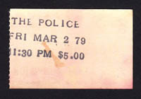 POLICE at the Whisky 3.02.79