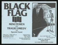 1983 ~ BLACK FLAG at La Casa De La Raza (LA)