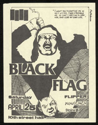 1981 ~ BLACK FLAG at 10th Street Hall (LA)
