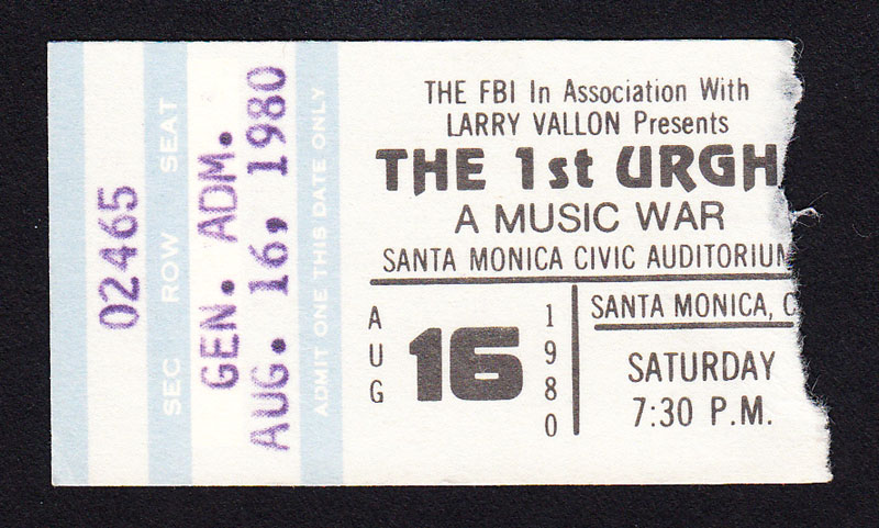 URGH! A Music War at Santa Monica Civic